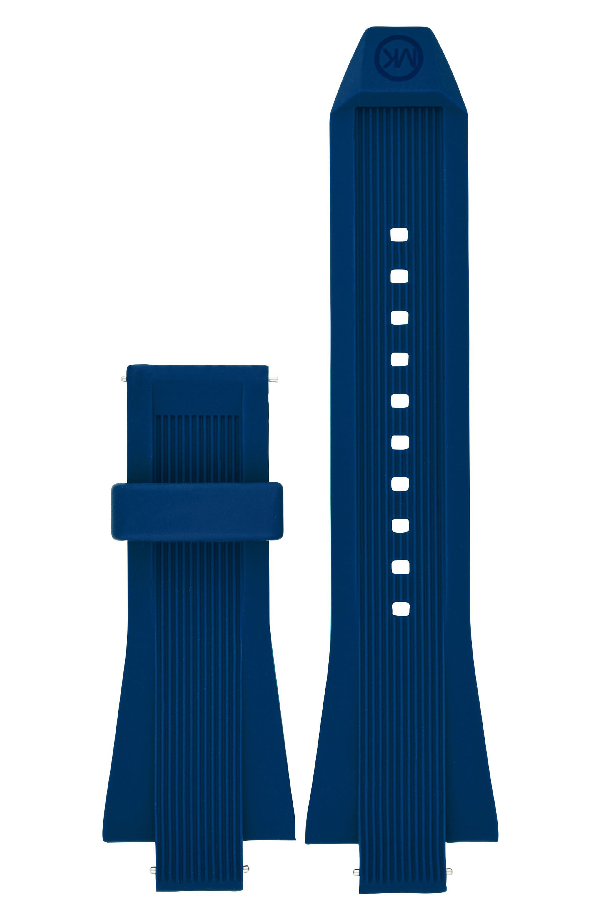 Michael Kors Dylan Silicone Watch Strap, 28mm In Blue