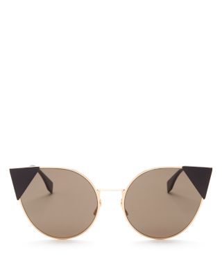 Fendi Lei Monochromatic Cat-eye Sunglasses In Copper