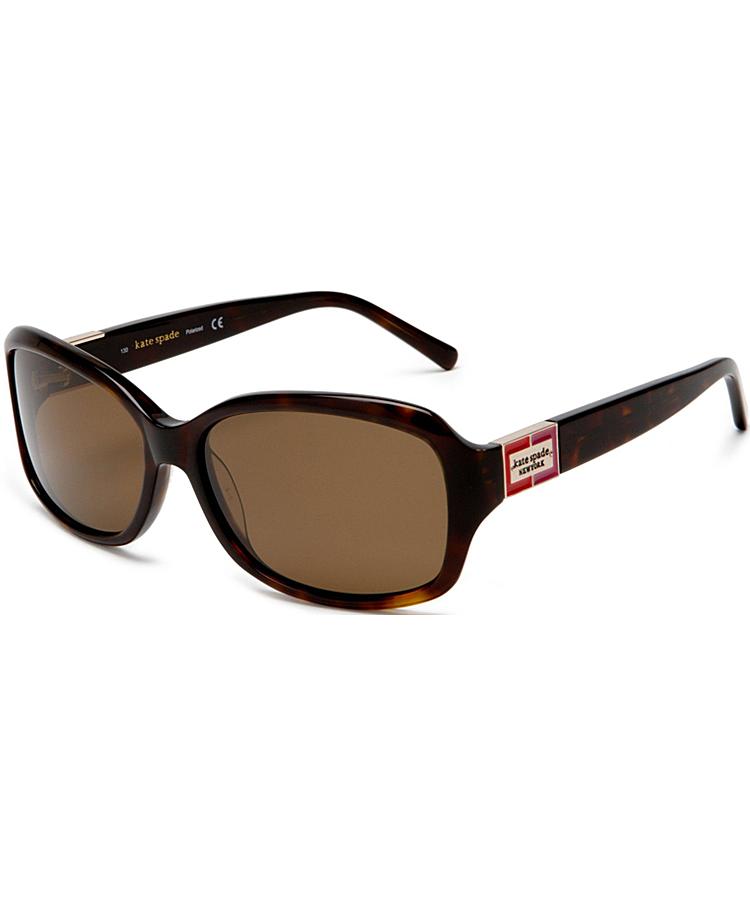 Kate Spade Rectangle Plastic Sunglasses In Tortoise