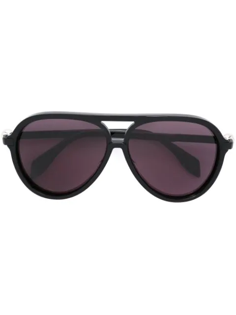 Alexander Mcqueen Aviator Solid Sunglasses, Black