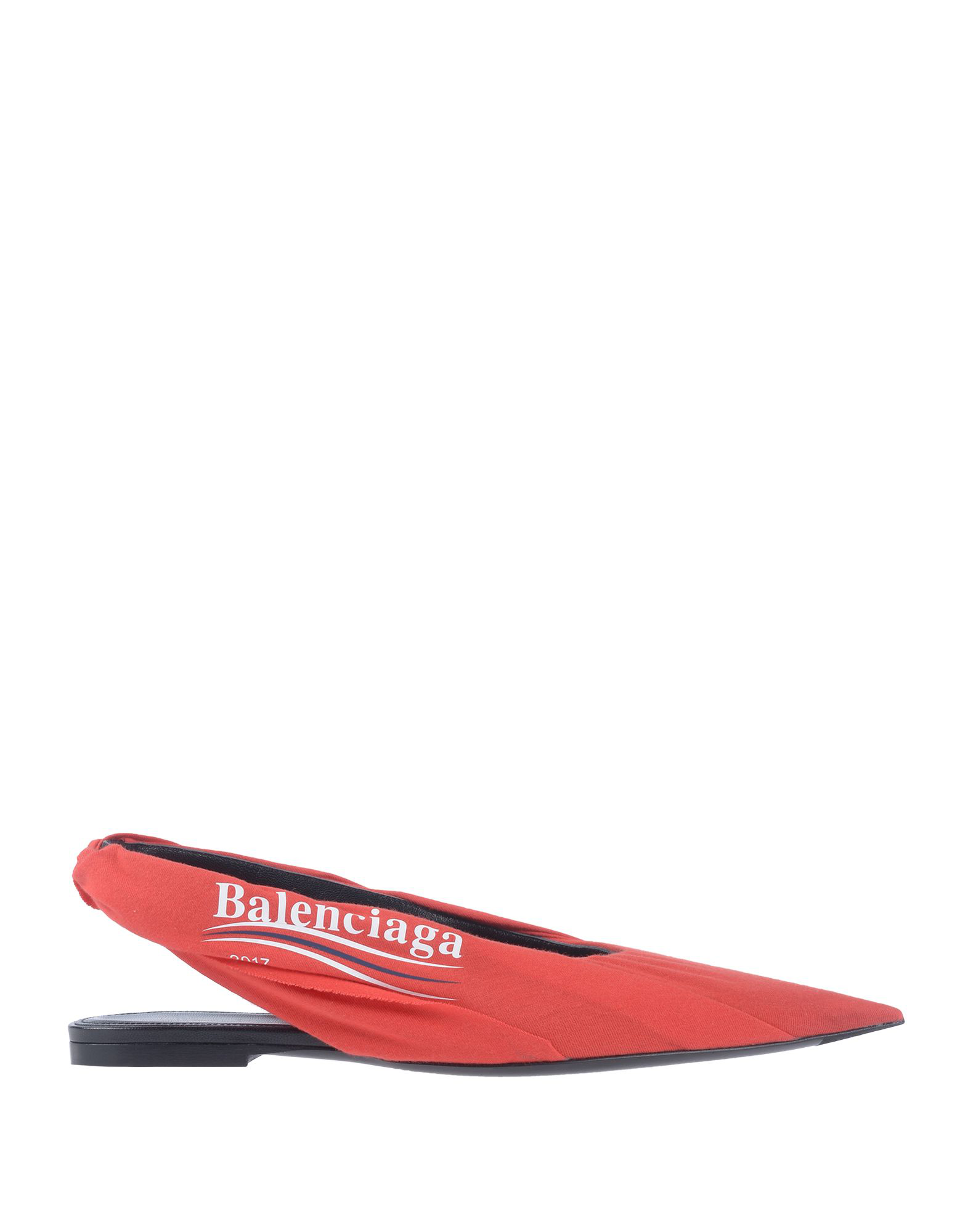 a8fa0f08950 White and red logo side print. Jersey-covered leather slingback heel strap.  Black leather lining