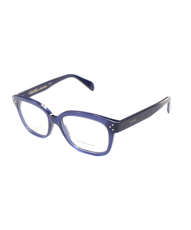 Celine Rectangle Plastic Eyeglasses In Blue