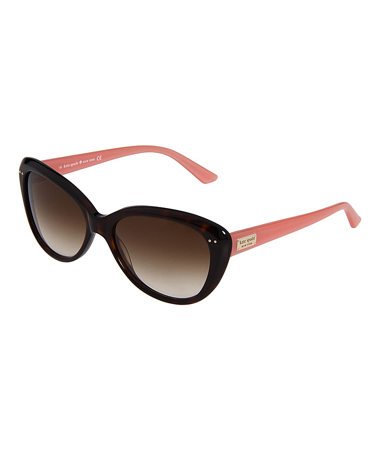 Kate Spade Cat-eye Plastic Sunglasses In Tortoise And Pink
