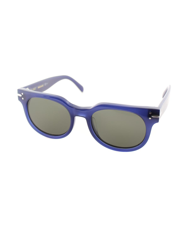 Celine Square Plastic Sunglasses In Blue