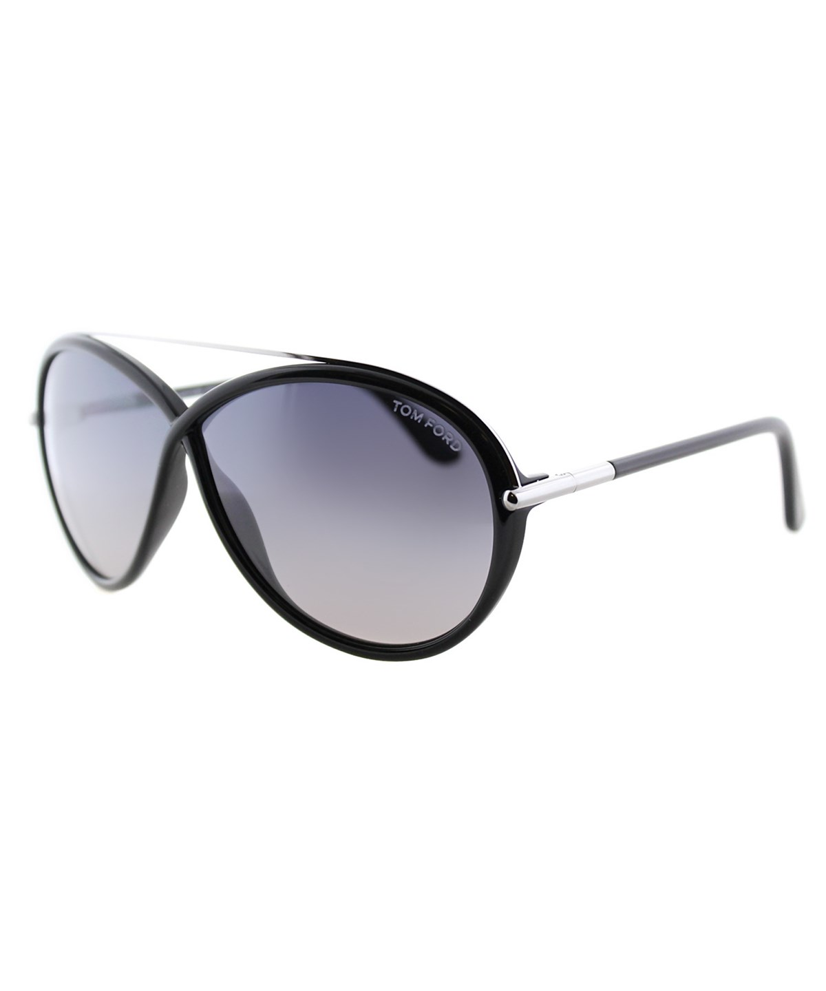 Tom Ford Tamara Fashion Plastic Sunglasses In Shiny Black