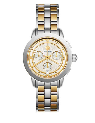 Tory Burch The Tory Classic Two-tone Chronograph Watch, Rose/silvertone, Multi In Two Tone