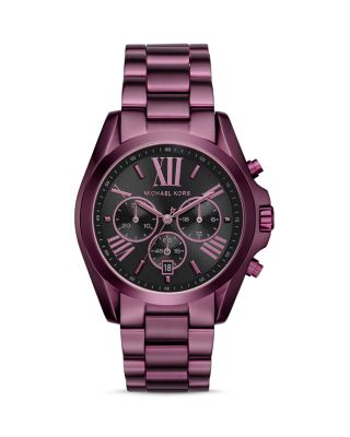 Michael Kors Bradshaw Plum Ip Stainless Steel Bracelet Watch