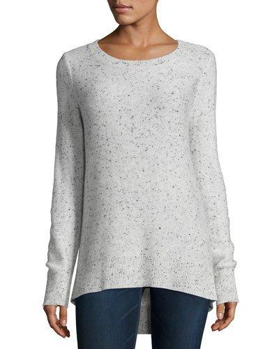 Rag & Bone Tamara Melange Cashmere Sweater, Light Gray