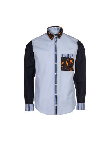 Msgm Patterned Shirt In Blue