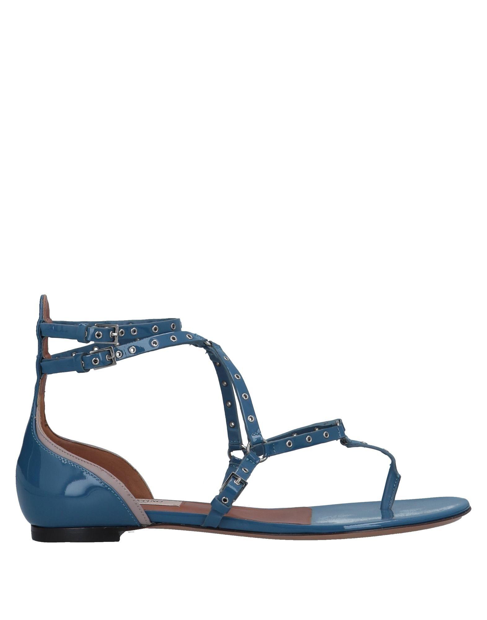 Valentino Garavani Flip Flops In Pastel Blue