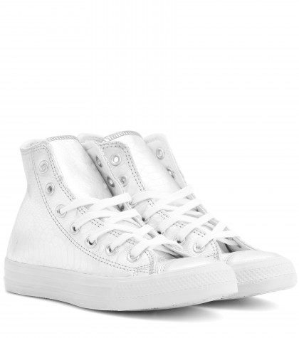 Converse Women's Chuck Taylor 1970S All Star High-Top Sneakers In White In Silver