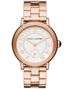 Marc Jacobs Riley Rose Goldtone Stainless Steel Bracelet Watch