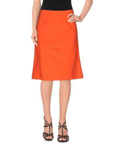 Jil Sander Knee Length Skirt In Orange