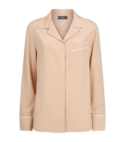 Theory Spotted Silk Blouse
