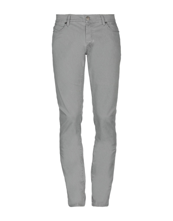 Jeckerson 5-pocket Trousers In Stretch Textured Cotton With Zip With Slim Fit In Grey