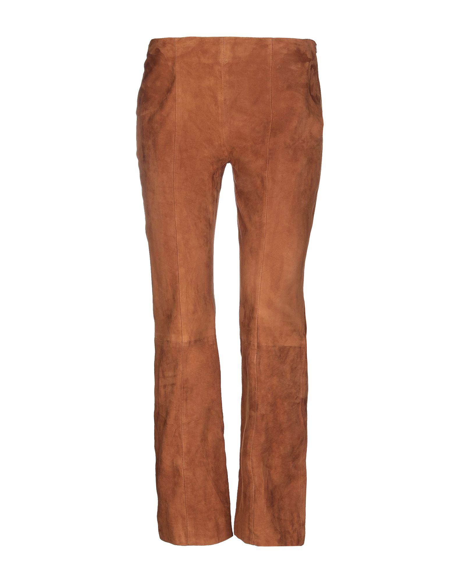 Iris & Ink Casual Pants In Brown
