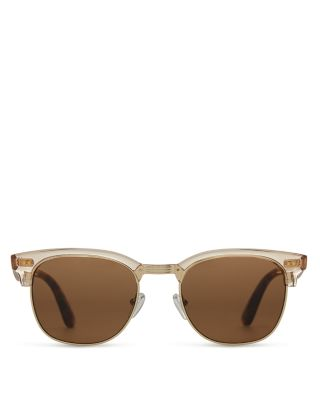 Toms Women's Gavin Sunglasses, 52mm In Champagne Crystal/solid Brown