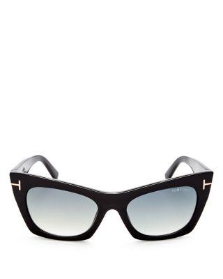 18be60bfa1bc Tom Ford Ft0459 S 05B Kasia Black Cateye Sunglasses In Black Gradient Smoke