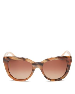 Tory Burch Cat Eye Sunglasses, 54mm In Brown Pink/brown Gradient