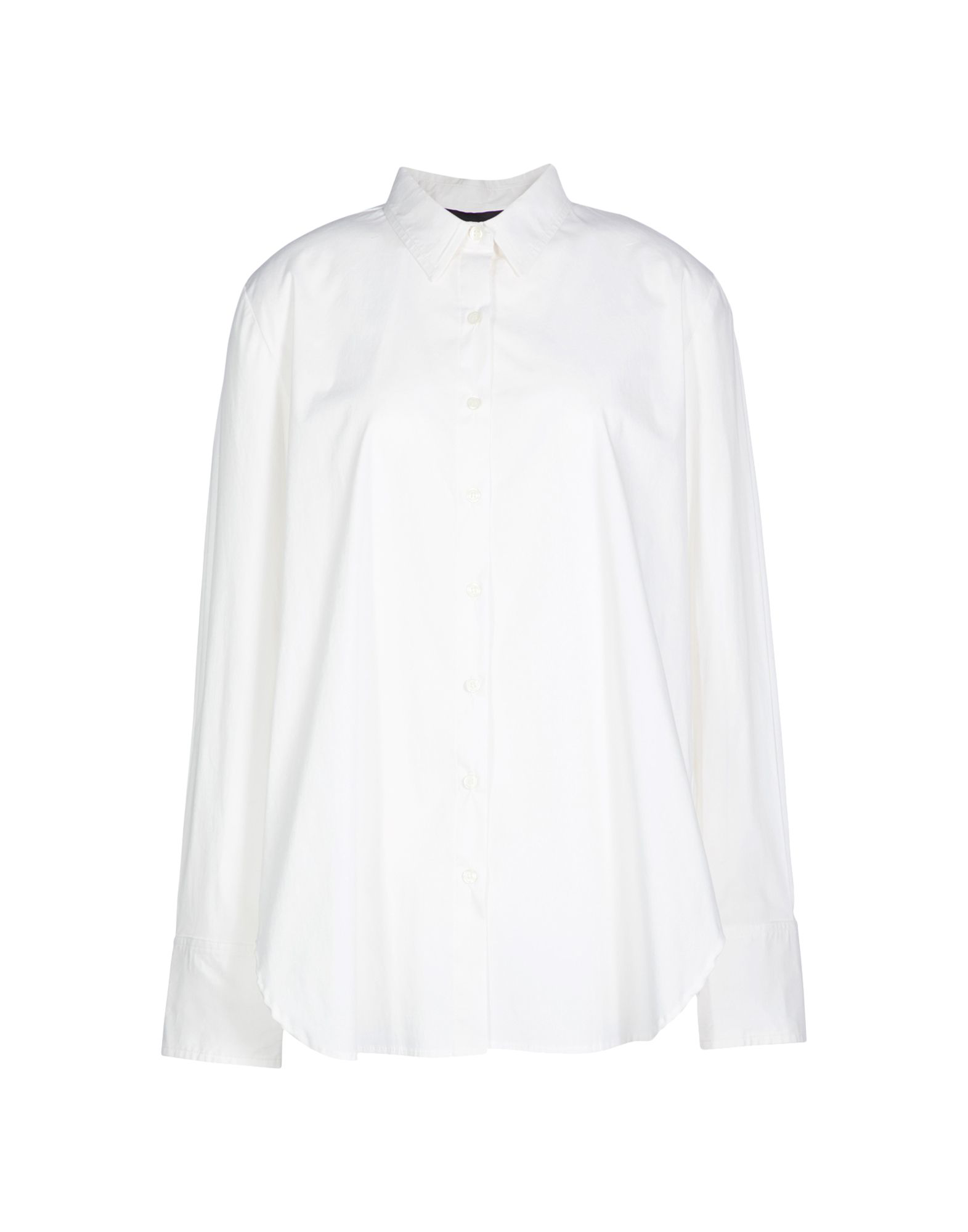 Hatch Solid Color Shirts & Blouses In White