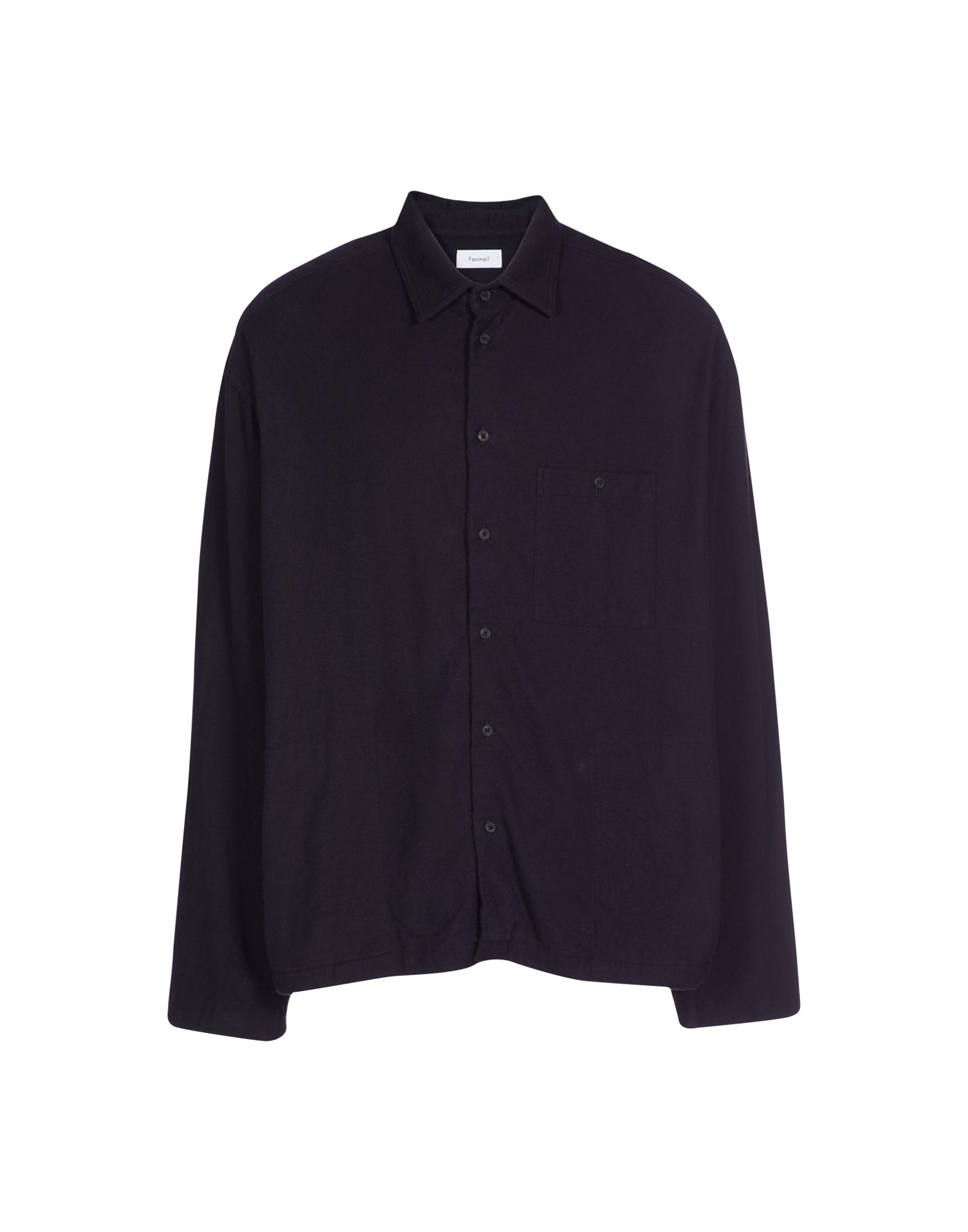Fanmail Solid Color Shirt In Dark Blue