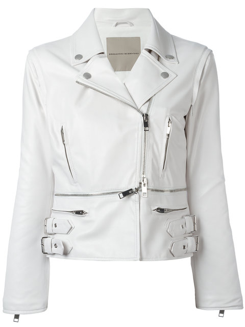 Ermanno Scervino Zipped Details Strappy Jacket In White