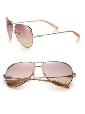 6bcf3f1beeb CHLOÉ. Women s Nerine Aviator Sunglasses ...