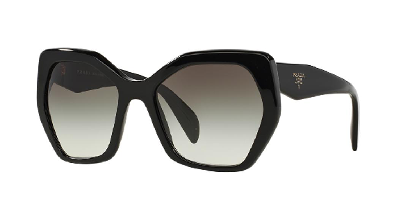 Prada Women's Oversized Geometric Sunglasses, 56Mm In Black/Grey