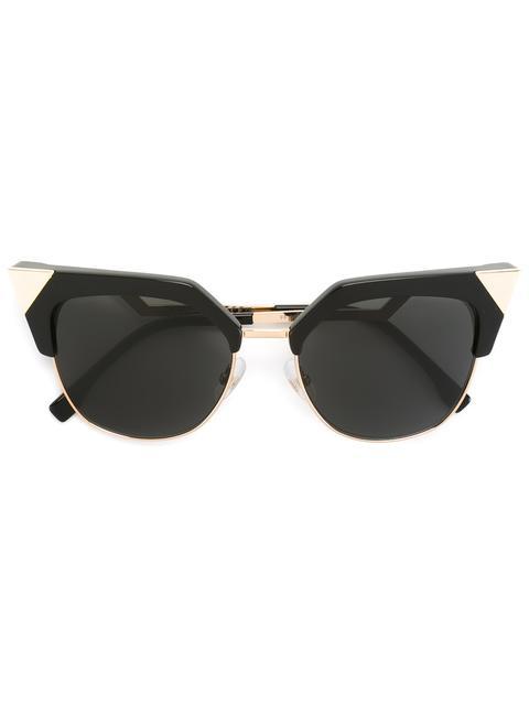 4c1e75beb326 Fendi Iridia Cat-Eye Sunglasses With Gold-Tone Detailing In Black ...