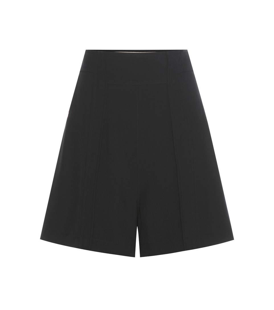 ChloÉ High-rise Shorts In Llack
