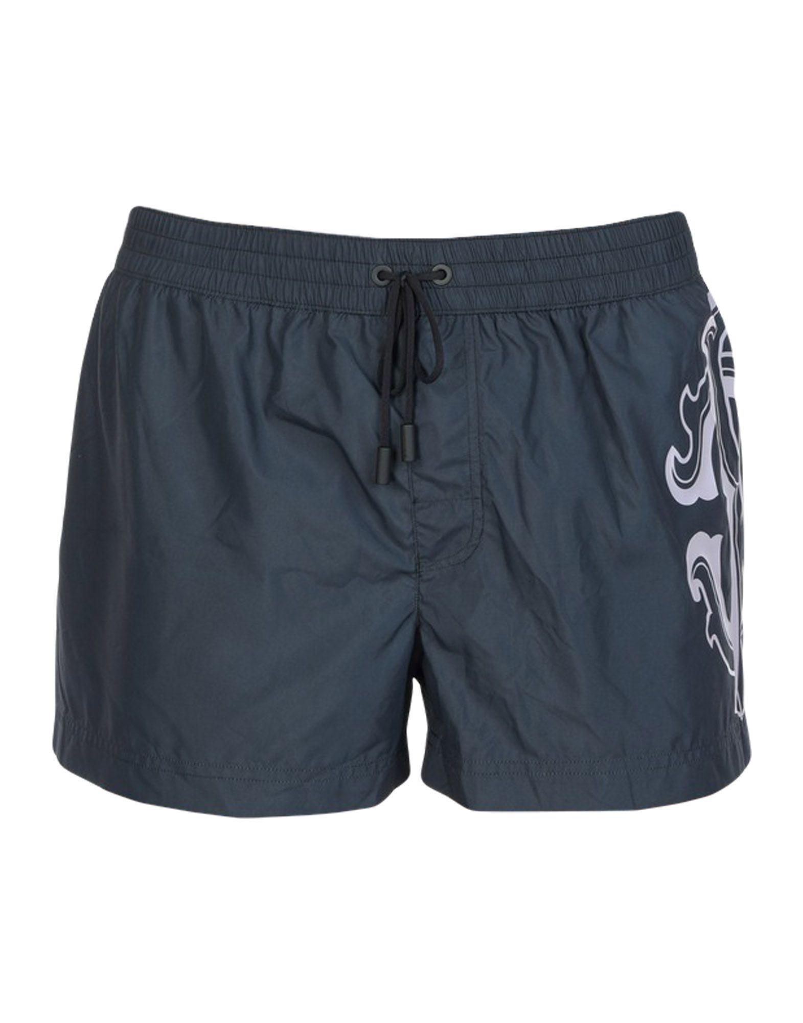 Roberto Cavalli Beachwear Swim Shorts In Black