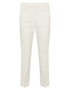 Theory Sharkskin Crunch Slim Crop Trousers In Calico