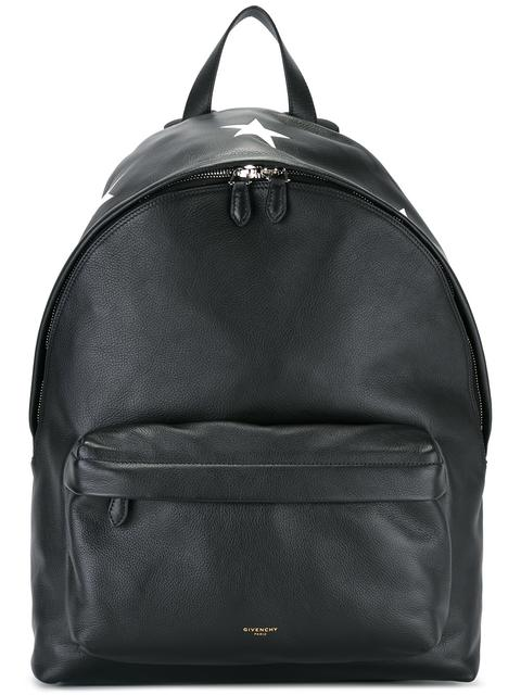 Givenchy Star-print Leather Backpack In Black