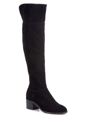 Rag & Bone Ashby Suede Over-the-knee Boots In Black