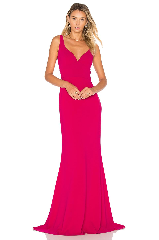 Jill Jill Stuart Sleeveless Gown In Fuchsia
