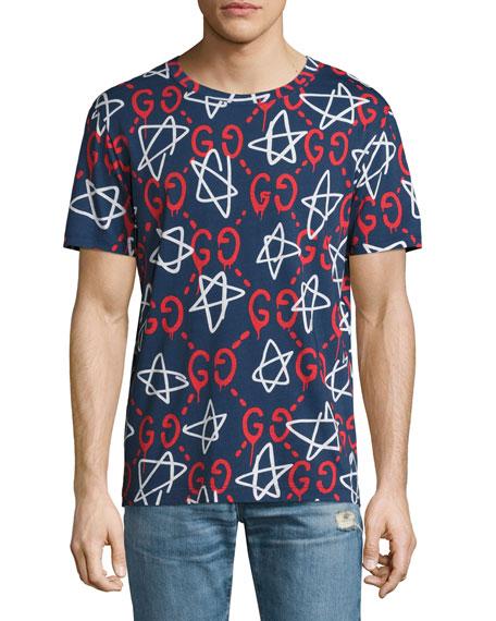 465fbc82f Gucci Ghost Star T-Shirt, Navy | ModeSens