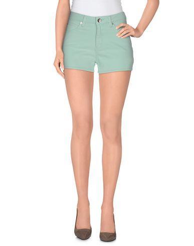 Love Moschino Denim Shorts In Light Green
