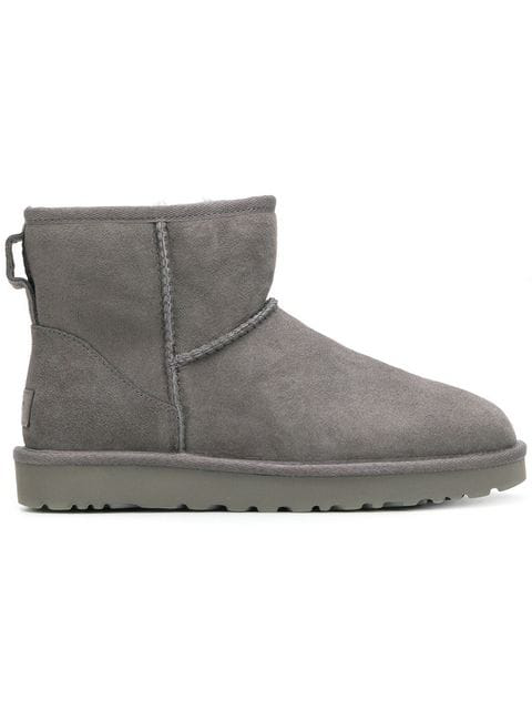 Ugg Mini Classic Grey Suede Ankle Boots