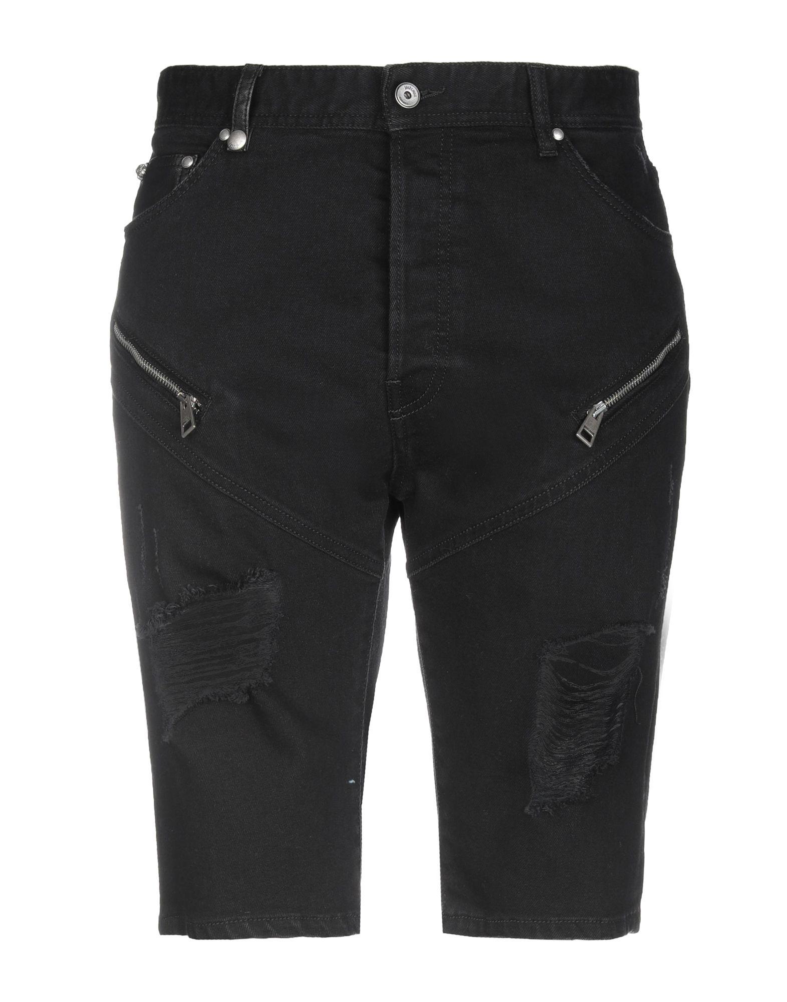 Just Cavalli Denim Shorts In Black