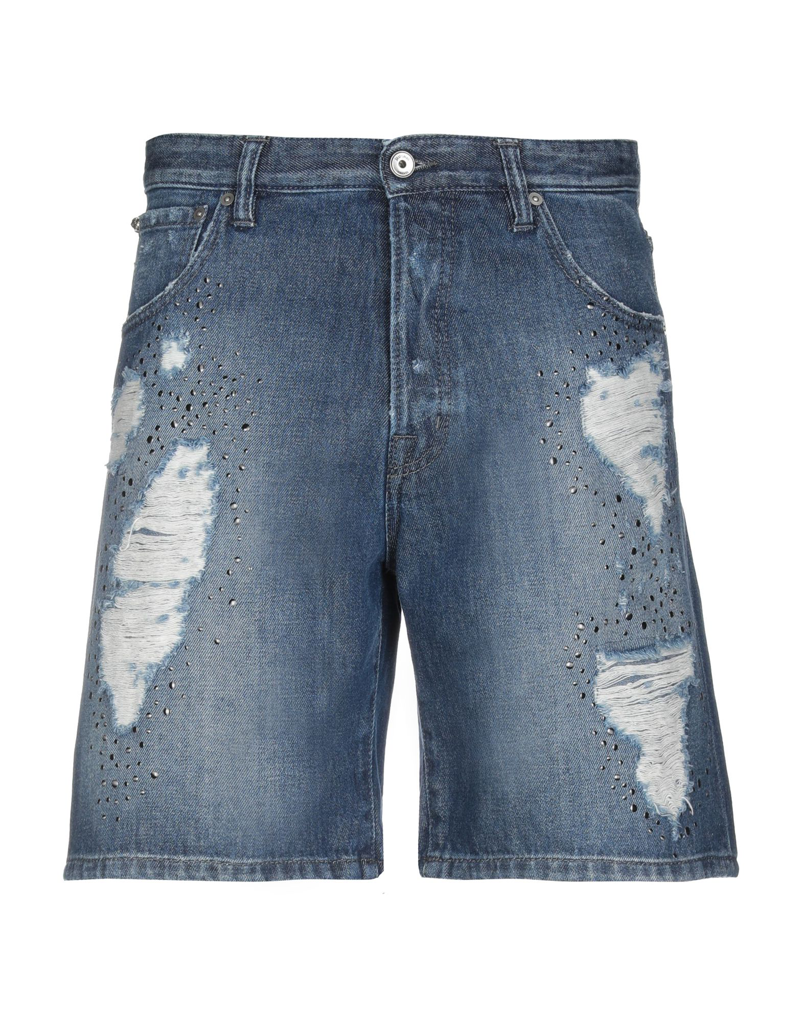 Just Cavalli Denim Shorts In Blue