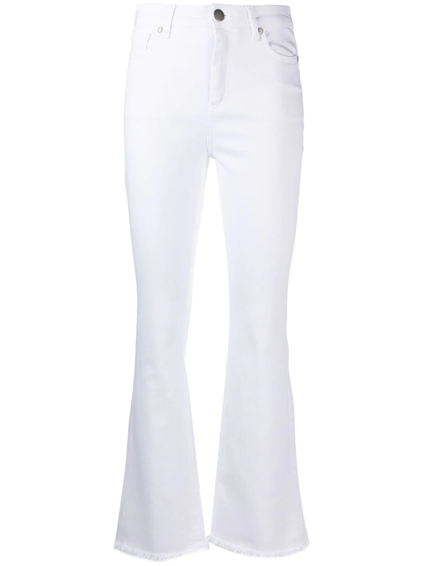 Federica Tosi Stretch-cotton Bootcut Jeans In White