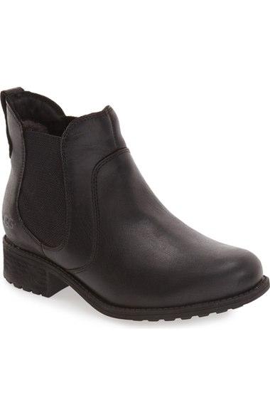 Ugg 'bonham' Chelsea Boot (women) In Black Leather
