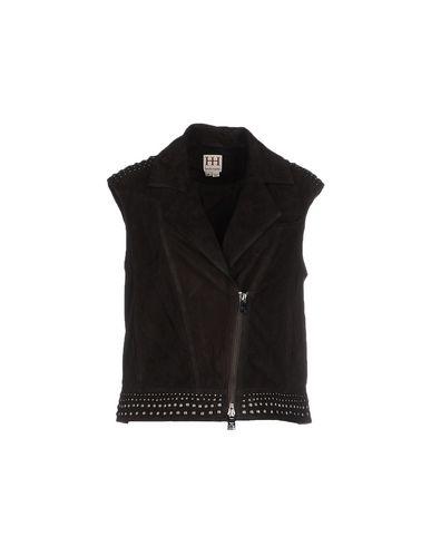 Haute Hippie Leather Jacket In Dark Brown