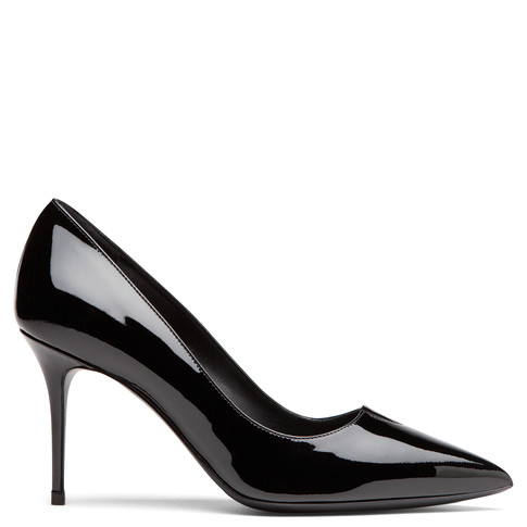 Giuseppe Zanotti - Black Patent Leather Pump With -V Cutout Hester