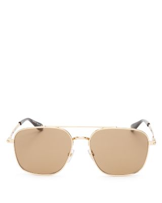 Givenchy Oversized Square Sunglasses, 58mm In Gold/brown