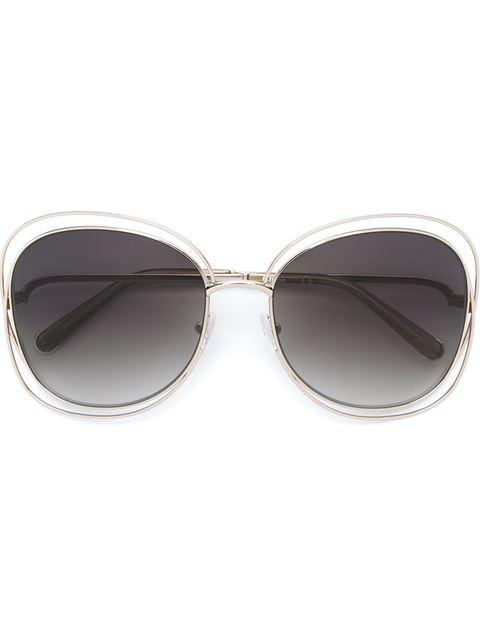 ChloÉ Women's Carlina Oversized Round Sunglasses, 60Mm In Metallic