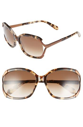 Kate Spade 'laurie' 57mm Sunglasses - Camel Tortoise