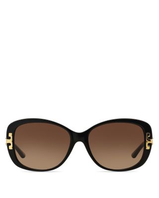 Tory Burch Women's T Square Sunglasses, 56mm In Black/brown Gradient