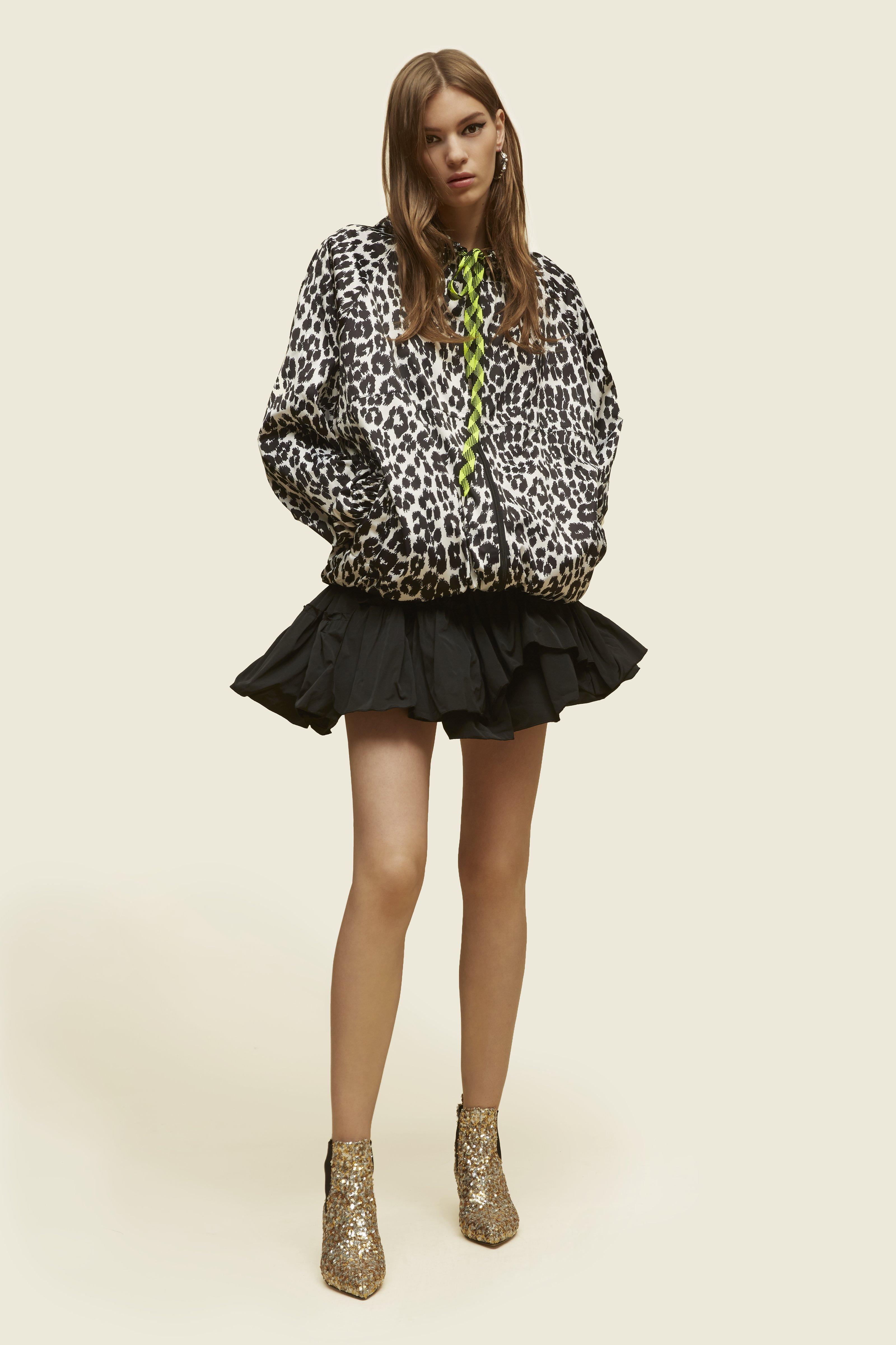 Marc Jacobs Leopard-print Hooded Coat, Bone/black