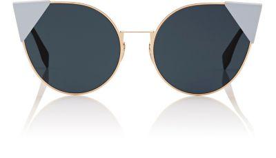 2742f0c518 Fendi  Lei  Flat Metal Cat Eye Sunglasses